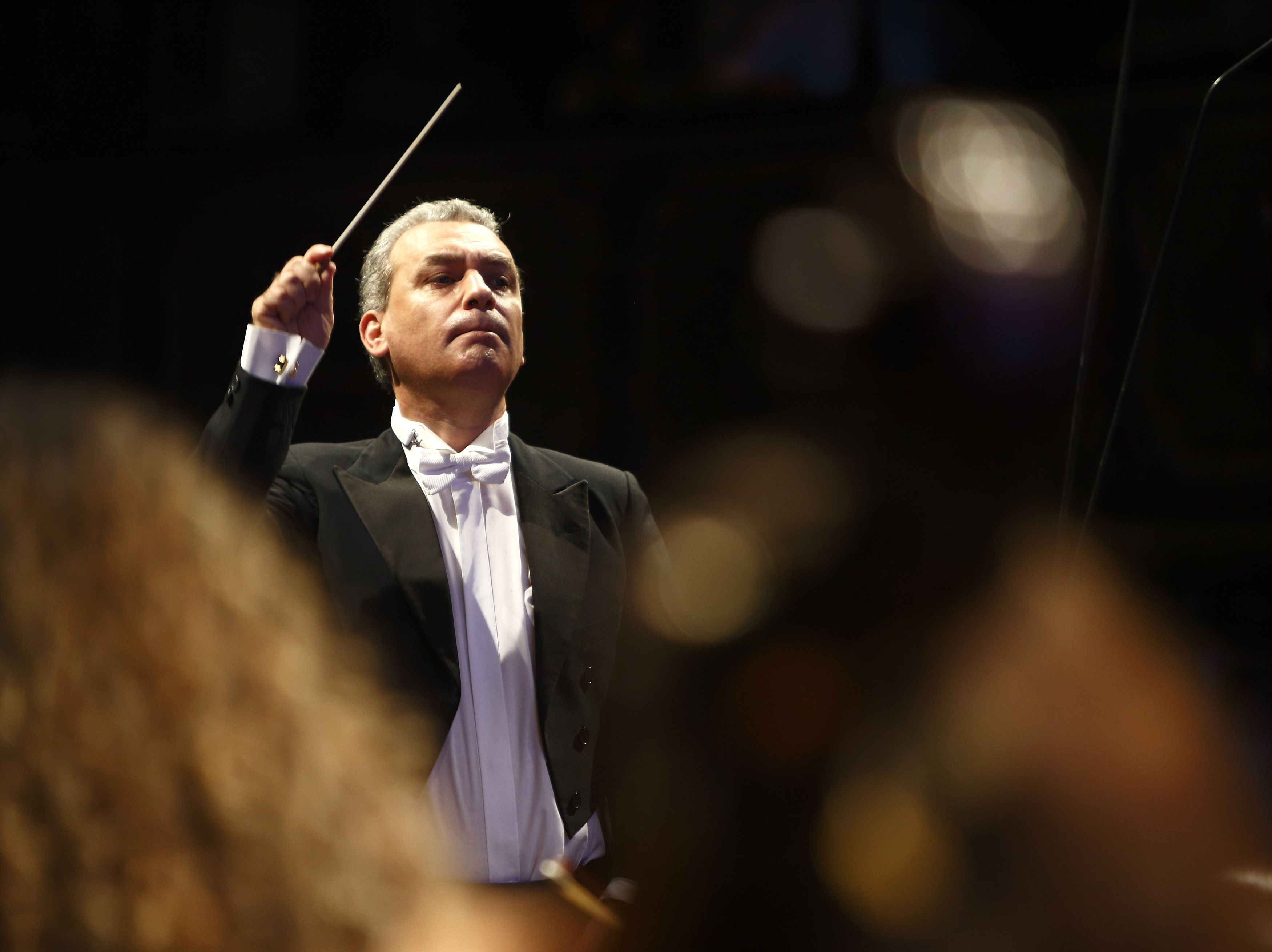 Michael Laus Directing the Malta Philharmonic Orchestra