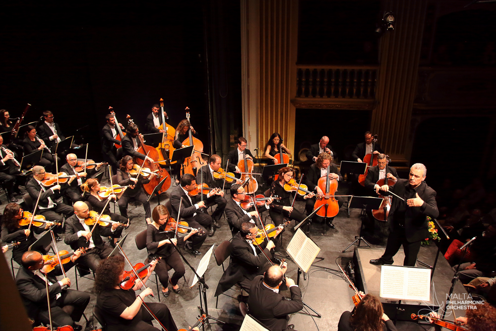 The Malta Philharmonic Orchestra under the direction of Maestro Michael Laus