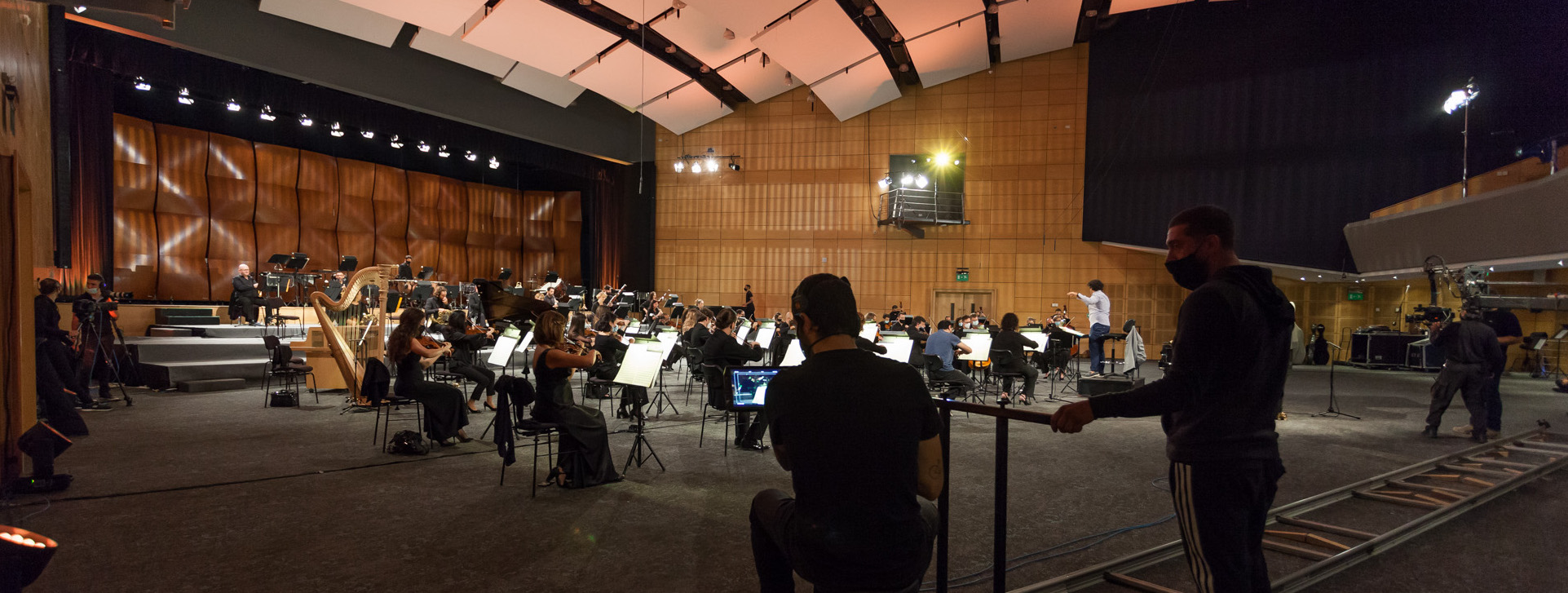 MPO During a recording session for the online concerts during 2020/2021