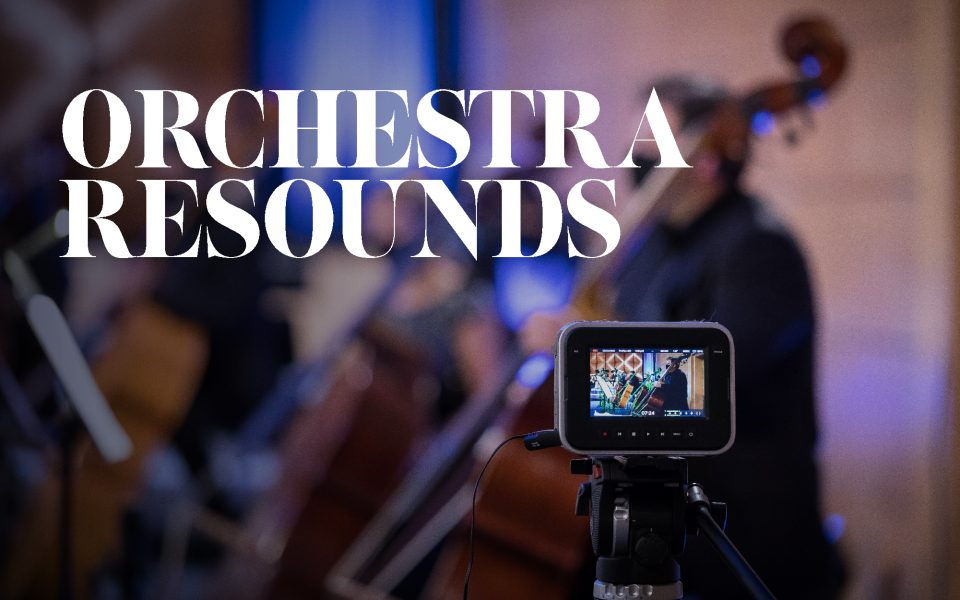 Official Poster for Orchestra Resounds Online series by the Malta Philharmonic Orchestra