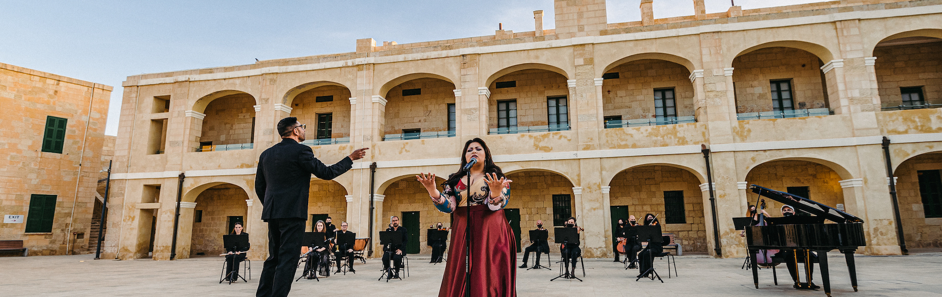 The Malta Philharmonic Orchestra accompanies Eurovision contestant Destiny for an online music production