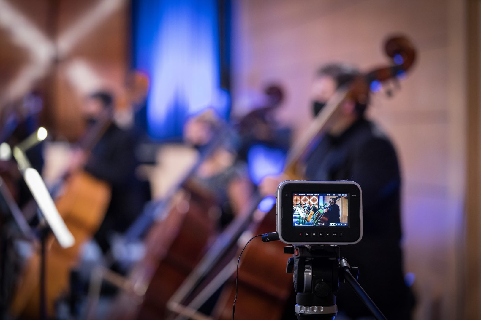 The main photo used for the malta philharmonic orchestra's online events