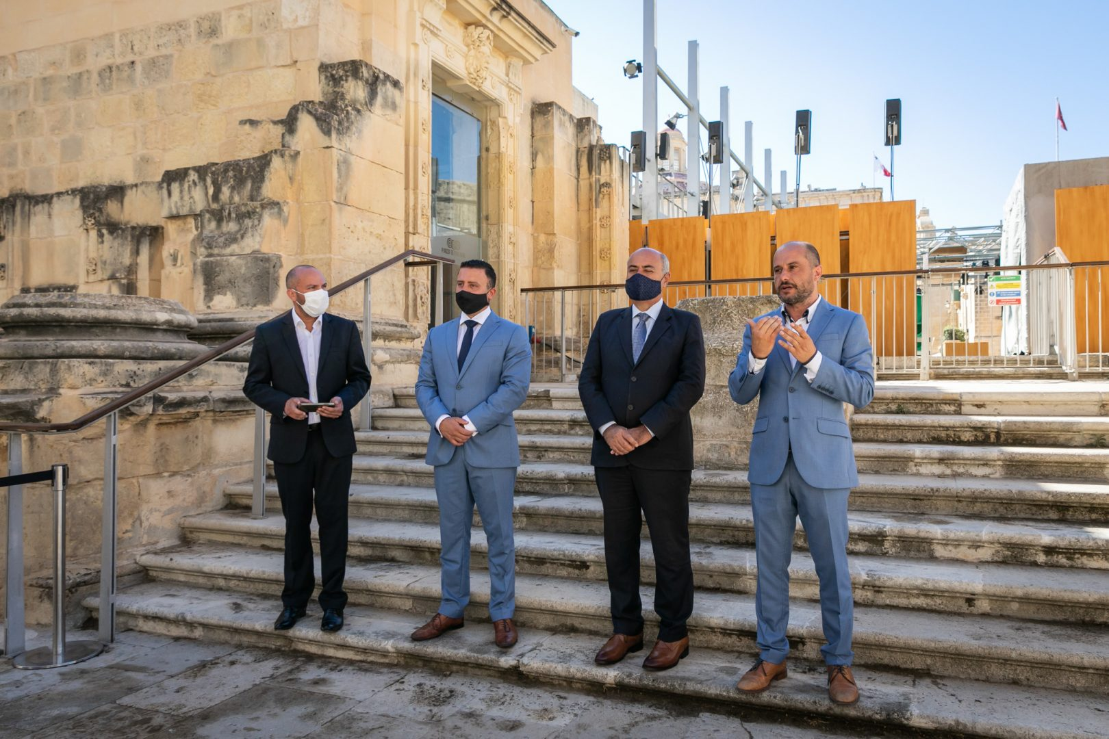 press conference with Jose Herrera Minister for Culture and Clayton Bartolo Minister for tourism Launching MPO live events in Malta